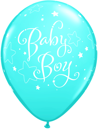 ballon latex baby boy la ballonnerie