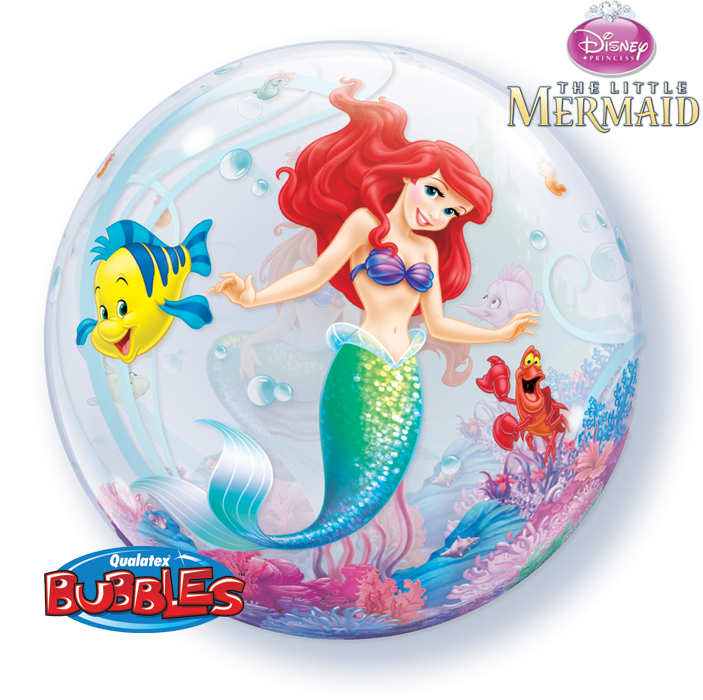 ballons bubbles the little mermaid la ballonnerie