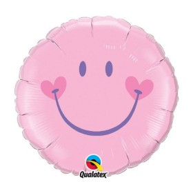 Ballon aluminium smiley fille la ballonnerie