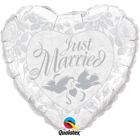 Ballons mylar just married
