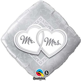 Ballons mylar mr and mrs